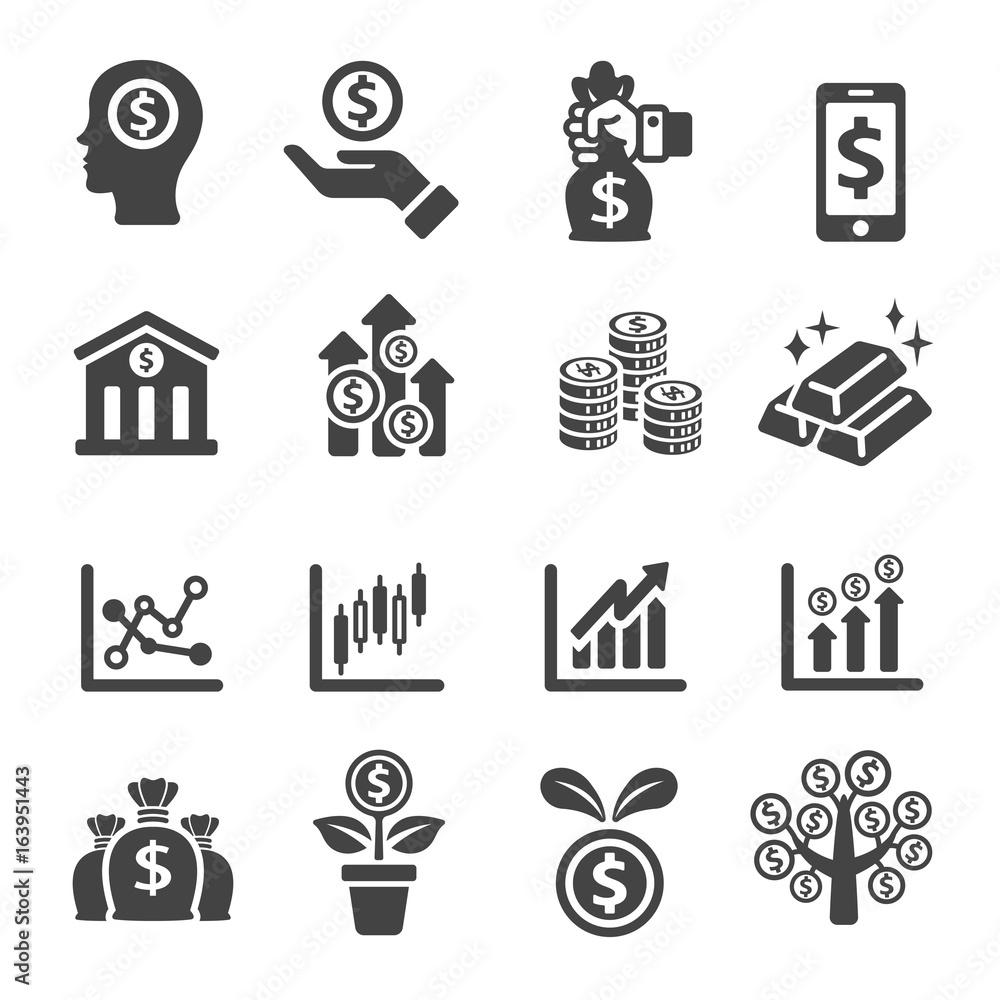 Fototapeta investment icon