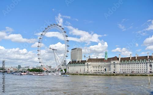 Fotografie, Obraz London, United kingdom - 2 July 2016: view of London Eye