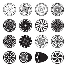 Turbine Icons. Vector Illustration