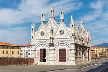 Church Santa Maria Della Spina On The Arno Embankment In Pisa