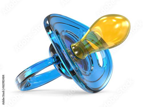 Fotografia, Obraz  Blue baby dummy 3D