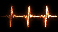 Fire Heart Beat Pulse In Fire ...