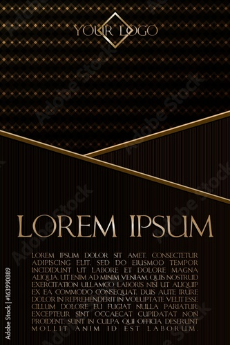 Photo Dark gold banner with overlay textures for business men's simply elegant