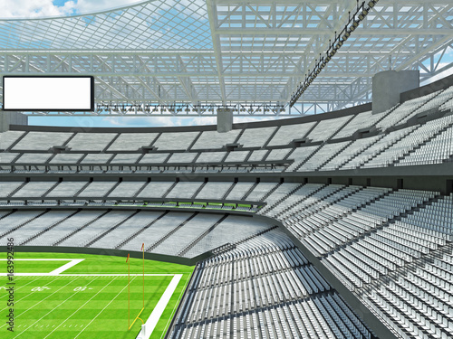 Fototapety, obrazy: Modern American football Stadium with white seats