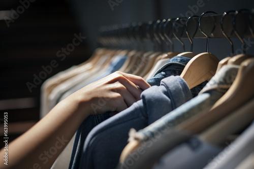 Foto op Canvas Paarden Clothes Shop Costume Dress Fashion Store Style Concept