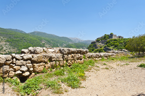 Recess Fitting Ruins Nimrod Fortress in Israel