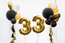 Decoration For 33 Years Birthday, Anniversary