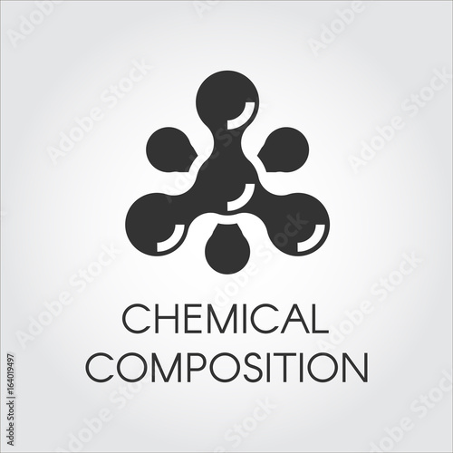 Chemical molecular icon in flat style Canvas Print