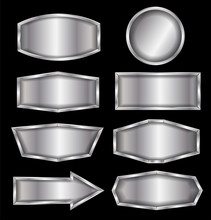 Vector Metal Sign Isolated On ...