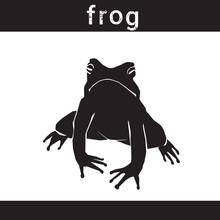 Silhouette Frog In Grunge Desi...