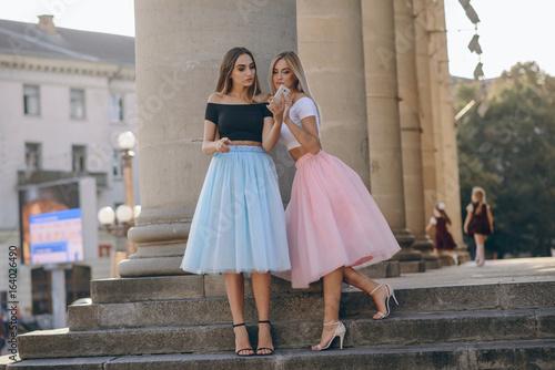 Fotografia girl in skirt