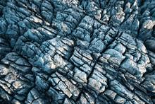 Aerialshot Of Untouched Svinafellsjokull Glacier Showing Crevasses