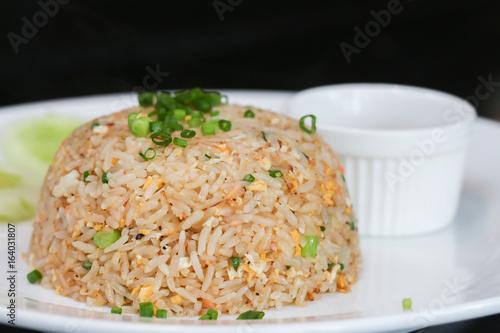 Plakat Zbliżenie smażony ryż