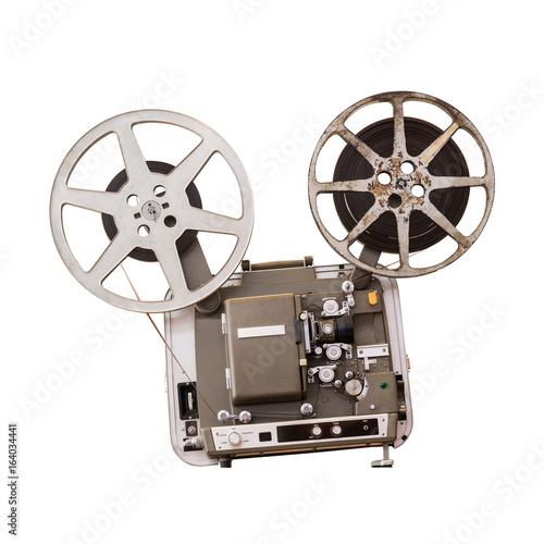 Foto op Plexiglas Retro Movie projector isolated