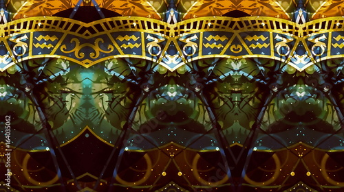 Fotomurales - astrological symbol Zodiac. Abstract color background. Computer collage.