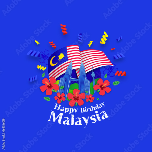Photo  Happy Birthday Malaysia Greeting Card