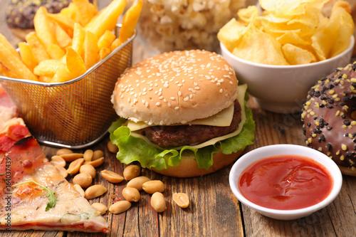 selection of junk food,fast food © M.studio
