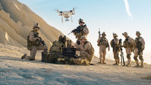 Soldiers Are Using Drone For S...