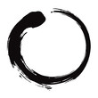 Enso Zen Circle Brush Black Ink Vector Illustration