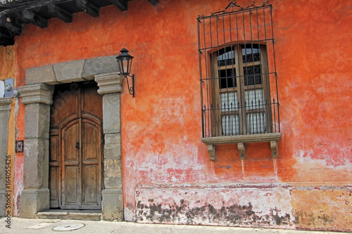 Foto op Aluminium Rudnes Colorful houses in Antigua, Guatemala, Central America. The historic city Antigua is UNESCO World Heritage.