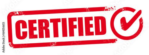 Obraz Vector certified stamp - fototapety do salonu