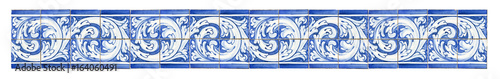 Photo Seamless pattern with typical portuguese decorations with colored ceramic tiles