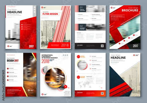 Brochure Design Red Corporate Business Template For Brochure