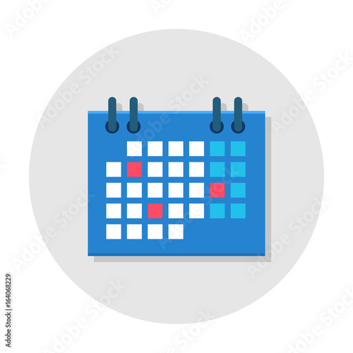 calendar flat icon office ring calendar planner icon project management and schedules tool