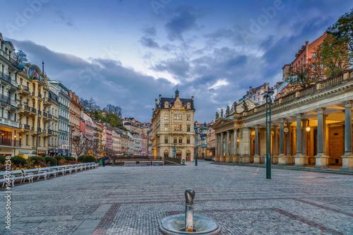 Fotografie, Obraz  square in Karlovy Vary, Czech republic