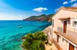 canvas print picture - Beautiful Sea View of idyllic Bay at Mediterranean Sea