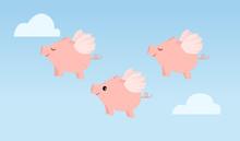 Three Flying Pigs