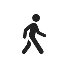 Walking Man Vector Icon. Peopl...
