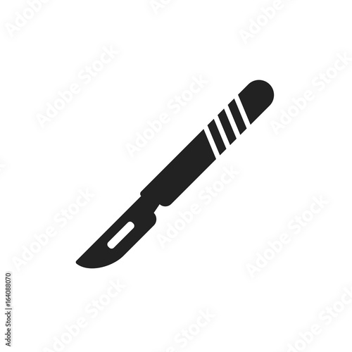 Photo Medical scalpel vector icon
