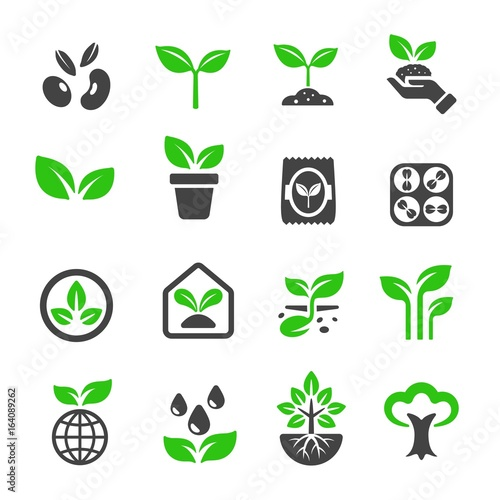 plant icon Wall mural
