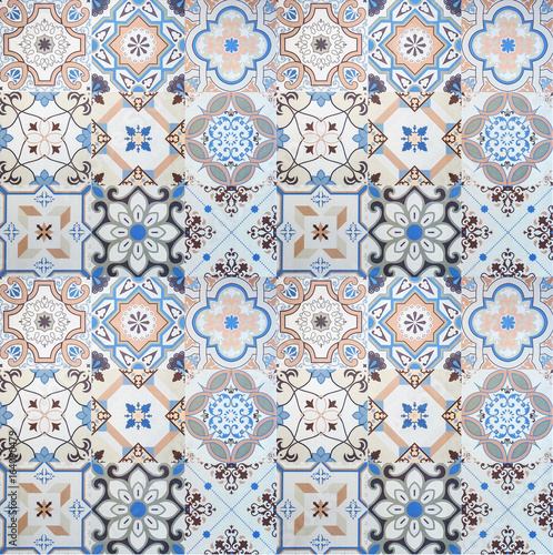 Tasty Artistic Texture of Tiles. Fototapete