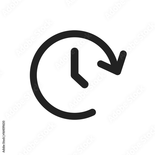 Photo  Clock tome vector icon. Timer 24 hours sign illustration.