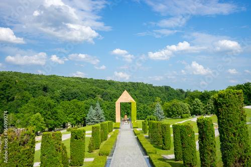 Spoed Fotobehang Begraafplaats Cemetery Mirogoj