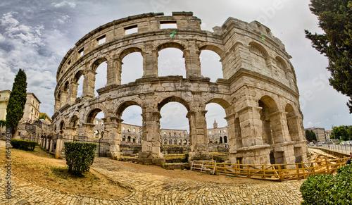 Obraz na plátne  Croatia. Pula. Ruins of the best preserved Roman amphitheater