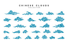 Collection Of Blue Clouds In C...