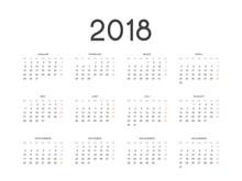 Calendar For 2018 Germany Simp...