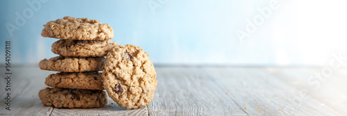 Foto op Canvas Koekjes Chocolate Chip Cookies