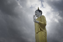 Buddha Statue Standing With Dr...