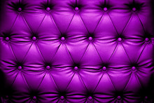 Purple Leather Texture With Buttoned Pattern