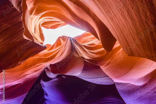 Spoed Foto op Canvas Canyon Lower Antelope Canyon - located on Navajo land near Page, Arizona, USA - beautiful colored rock formation in slot canyon in the American Southwest