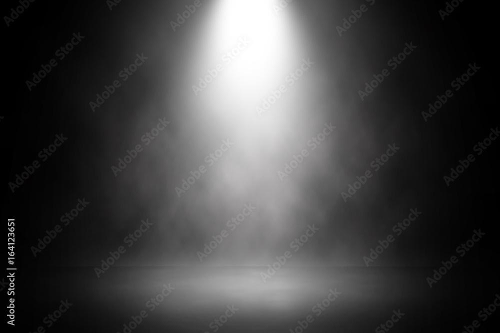 Fototapety, obrazy: Abstract spotlight white stage design background.