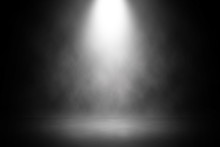 Abstract Spotlight White Stage...