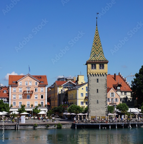 Obrazy na płótnie Canvas Lindau is a town and island on the eastern side of Lake Constance (Bodensee in German). It is located near the borders of Austria (Vorarlberg) and Switzerland (St. Gallen and Thurgau).