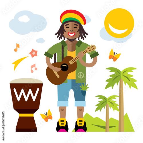 Photo  Vector Rastafarian