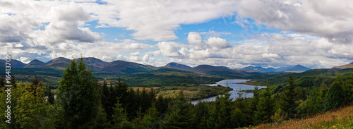 Fotografie, Obraz  Panoramic view of the Scottish Highlands at Glen Garry