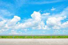 Roadside View Of Beautiful Blu...